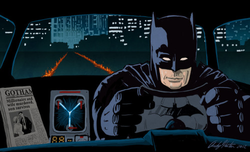 theblueboxboy:  Back to the Future / Batman Mashup by Andy J Hunter