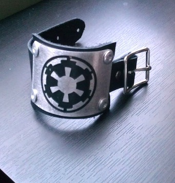 STAR WARS Imperial Leather Cuff Bracelet | by Crimson Chain Leatherworks  {via starwarsandwine}