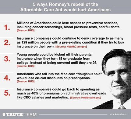 "Romney wrote Obama's health care plan. Well, except that Obama imposes a fine for non-compliance while Romney's plan eliminated a deduction. The GOP will tell you that there's a huge difference, as a fine you have to pay no matter what, and the lost deduction doesn't hurt you unless you make a taxable profit… Anyhow, it's ""RomneyCare.""  That's the plan which our (supposedly) Democratic President enacted. ""RomneyCare."" Go on, educate yourself:  Google ""RomneyCare"""