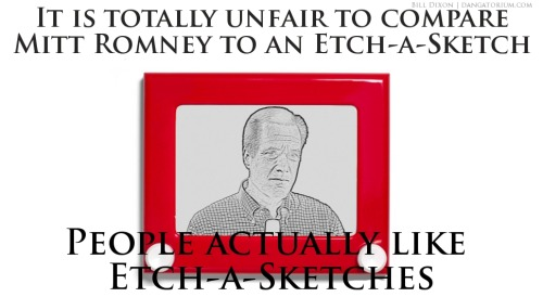 dangatorium:  Mitt Romney Is Etch-a-Sketchy by Bill Dixon