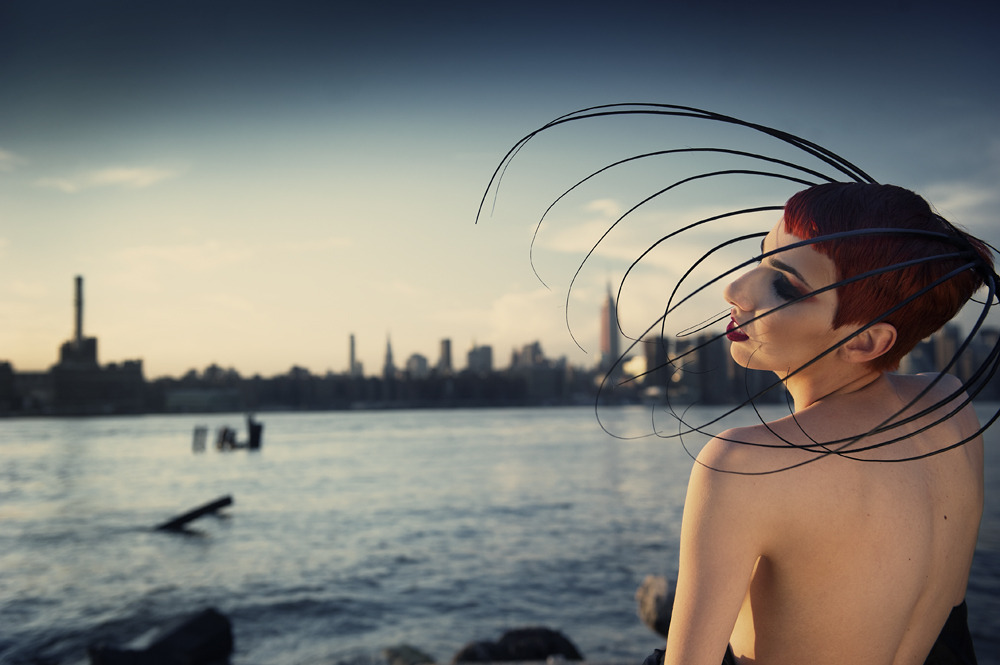Headwear Designer: Philomena Kwok Faustina Rose- Model  Ryan Stone-Hair Stylist (216)-258-6408 Ryanstonehd@yahoo.com Shaun Thomas Gibson-Makeup Website