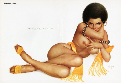 vintagegal:  Illustration by Alberto Vargas for Playboy Sept. 1971
