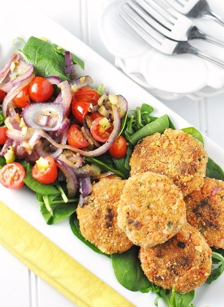 Salmon & Sweet Potato Cakes.
