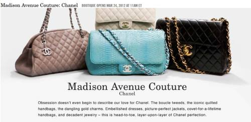 Be sure to check out our Chanel event this saturday starting at 11am EST!  And if you aren't already a member, you can sign up for free!