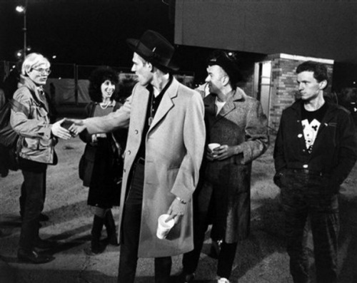 aconversationoncool:  That moment when The Clash met Warhol.