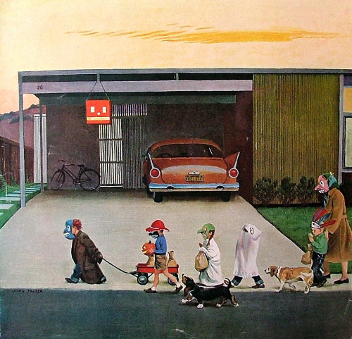 John Falter, Trick-or -Treating in the Burbs, 1958