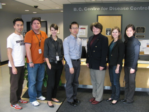 Research team at BCCDC Public Health Microbiology and Reference Laboratory (PHMRL) and the BC Centre for Disease Control