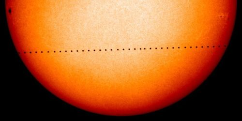 "discoverynews:  Mercury Makes Precise Measurement of the Sun In what sounds like an astronomical ""David and Goliath"" tale, the smallest planet in the solar system (no, not Pluto, the other one) has helped astronomers precisely measure the width of the largest thing in the solar system — the sun. Wait. I hear you cry. Do astronomers have nothing better than to measure the girth of our nearest star? Besides, we should know that already… shouldn't we? In the sage words of Bad Astronomer Phil Plait: ""Sometimes the simplest things can be the hardest, I suppose."" And he'd be right. keep reading"