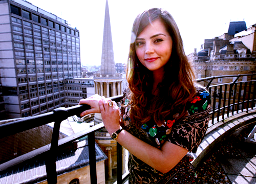 "The Great Jenna-Louise Coleman Roundup Super Post. First: thanks to everyone for hanging in there today as this blog became a Jenna-Louise Coleman Appreciation Blog. It's been two years since the last companion change. Moments like this are rare so we have to make the most of it. As most of you should know by now, actress Jenna-Louise Coleman was announced as The Doctor's next companion beginning with the 2012 Christmas Special. So who is Jenna-Louise Coleman? So glad you asked! She's 25 and from Blackpool. She's 5'2"" and has brown hair (cosplay just got that much easier for anyone who's not ginger.) She's been in a bunch of British television including the ITV soap opera Emmerdale and the BBC One drama Waterloo Road.  Later this month she'll appear in an ITV dramatic miniseries about the sinking of the Titanic. The title of the series is 'Titanic'.  She's also the voice of Melia in Xenoblade for Wii. You can see clips of her work on other shows over at Anglophenia. Best of all, according to Steve Moffat, she's clever:  ""I think she's possibly the only person I've ever heard go faster than Matt.""  When she found out that she got the part, she was in a store holding an avocado.  This has led to a good-hearted but comical Whovian takeover of the 'avocado' tag on Tumblr thus confusing healthspo/thinspo Tumblrs everywhere.  Here is a BBC video interview with Jenna-Louise Coleman just after the announcement. David Tennant approves as do former Classic Who companions Katy Manning and Anneke Wills. Matt is so excited that he sent her a very Matt-sounding text. We assume he sent it before he and Arthur started posting pictures to Twitter and Instagram.  Yes it is, Arthur. Yes. It. Is. Speaking of Twitter, Jenna doesn't have one. Yet.  Beware of imposters. The media had their reactions and the fandom on Tumblr had theirs. We liked the fandom's better.  Steven Moffat says that when Jenna's character meets The Doctor, it will be ""one of the biggest mysteries the Time Lord ever encounters"".  Also, there was news about episode count for series 7:  There will be 6 episodes this year, including the Christmas Special, then 8 next year. Again, Jenna's character will first be seen at Xmas.  And Steven Moffat revealed a big spoiler >DO NOT CLICK THE FOLLOWING LINK!!!< which we hid behind a 'Read more'. So that's it for today. We're sure that we'll have more as the days and months go on. Welcome to the family, Jenna-Louise Coleman. We're all a bit mad here and we wouldn't have it any other way."