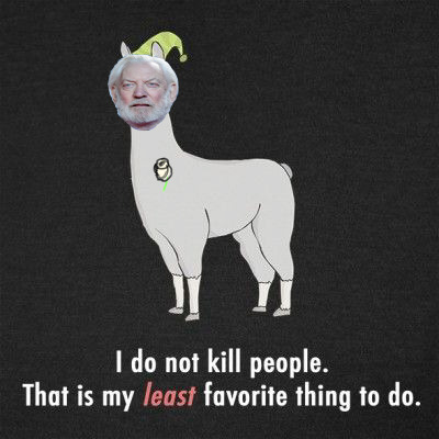 finnestar:  Llamas with Hats + The Hunger Games. What do I do with my spare time…