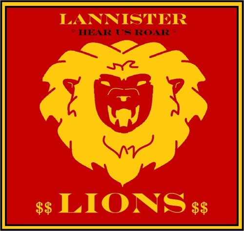 Go Lannisters! Just 'cause it's Random Wednesday, and it's the last one I haven't pubished, here's my (poor MS Paint) take on the Lannisters! -Lady of Oldcastle