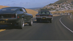 Bullitt: The Fiction part is when the Mustang catch up the Charger.