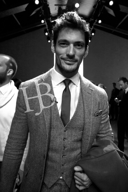 "David Gandy after the James Long Show @ Courtyard Show Space> Somerset House - LFW A/W 2012: Menswear DayThis was a personal highlight for me, David Gandy is one of my icons in the fashion world and I met him and even managed to get a picture of him. I did turn into a bit of a 'crazed fan' at one point when he walked past me and I shouted ""You're Beautiful!"" and he heard me, but luckily he just turned round and laughed. Still, he was a very pleasant and a very fashionable man."