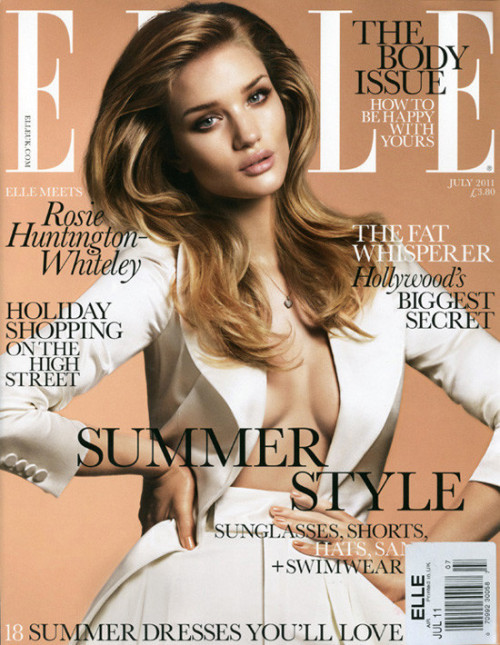 they.call.it.beauty - covers rosie huntington whiteley . elle uk . july 2011