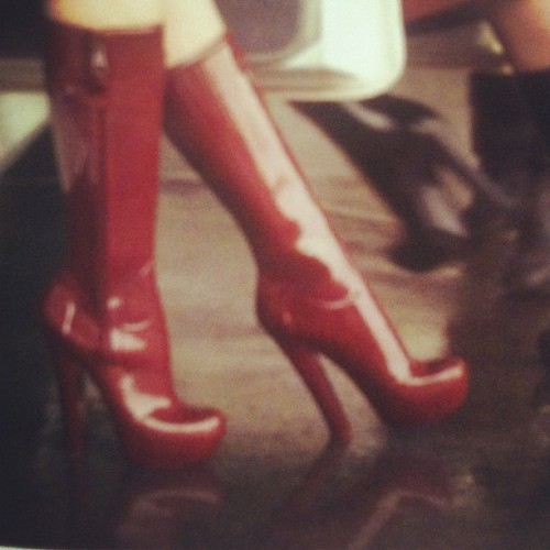 This NYC gloomy weather calls for some high heel rain boots! -Louis Vuitton  (Taken with instagram)