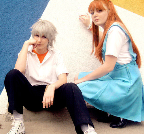 Shin Seiki Evangelion: Cosplay    \o/ TY ALL AGAIN \o/ Ty who reblog, like, follow me <3 and keep looking my Tumblr <3 Me as Asuka, Niimura as Kaworu