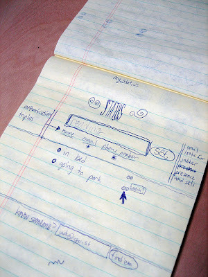 Original Sketch For Twitter.  Twitter turns 6 and releases some big numbers. Take a look at the big stats they released. Happy 6th Birthday Twitter! Also See What Stat They Released! http://bit.ly/GDS23L