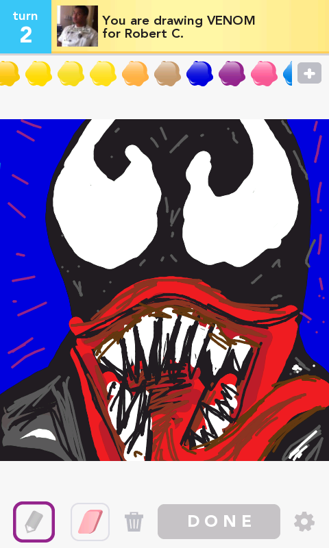 Today I drew Venom on my phone