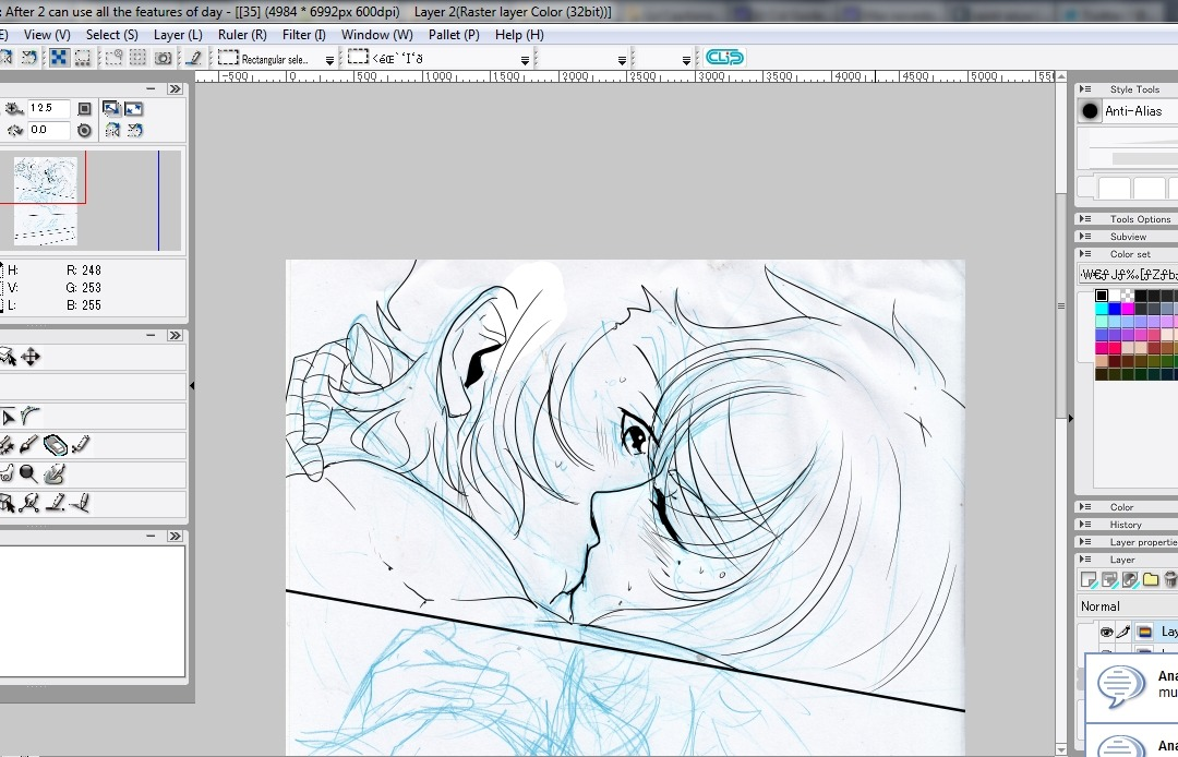 WIP! Already inking page 35 of my doujinshi…ManigoldoxAlbafica.