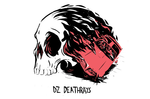 New shirt Design for DZ Deathrays. The brief was pretty simple- Trans Am and Skulls.