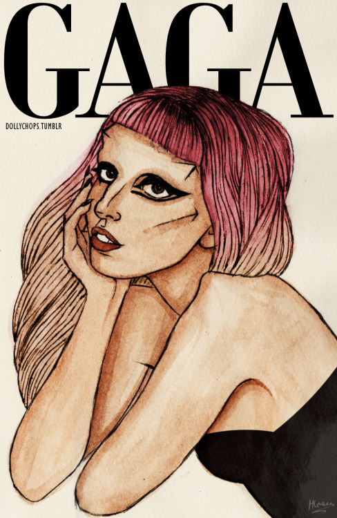 Gaga (drawing from my shirt design entry)