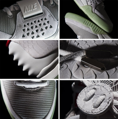 This is the Nike Air yeezy two. Here are the facts, well here is my analysis as a novice wanna be shoe designer.1. kanye west did not design these, sorry but you cant draw with both your left and right hand nigga. Should have thought of that before releasing those photos.2. like the air yeezy one, this is just a contrived version of an old Nike design that someone with talent did. I am glad it was brought back like this.3. there is nothing innovative here, another gimmick by the company to get sales, cant blame them. Its business at the end of the day.4. this was made in china, in a sweat shop. Nike is known for that sadly.5. this shit is sexy as fuck with the glow in the dark sole6. i would buy it if i was still 18.7. it is comprised of nylon mesh, suede and most notably the trending faux snake skin. 8. Other details include a ribbed heel area, leather lace toggles and chunky metal lace tips.9. there are also Egyptian symbols that pay homage to the bird god - hours. I don't know the significance to Nike but Horus was said to be the sky, he was considered to also contain the sun and moon. A symbol of majesty and power as well as the model of the pharaohs. The Pharaohs were said to be Horus in human form. Guess this nigga thinks he is god or something.10. Imma let you finish but i have one of the best opinions of all time. I still love Nike ID and want to work for them :)
