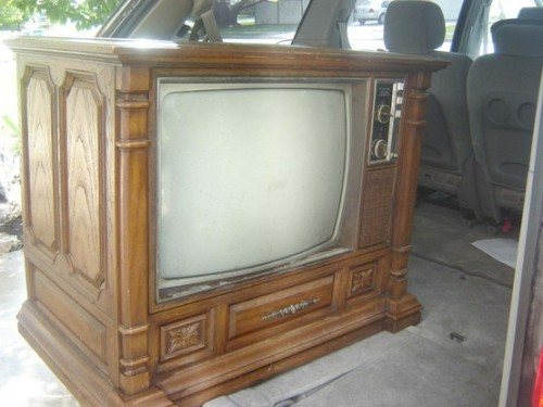 Huge Wooden TV Sets [Pinterest]