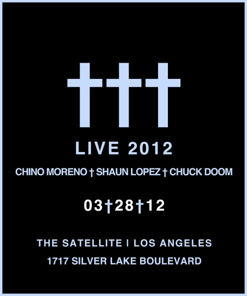 JUS† ANNOUNCED. LA - The Satellite - 3.28.12