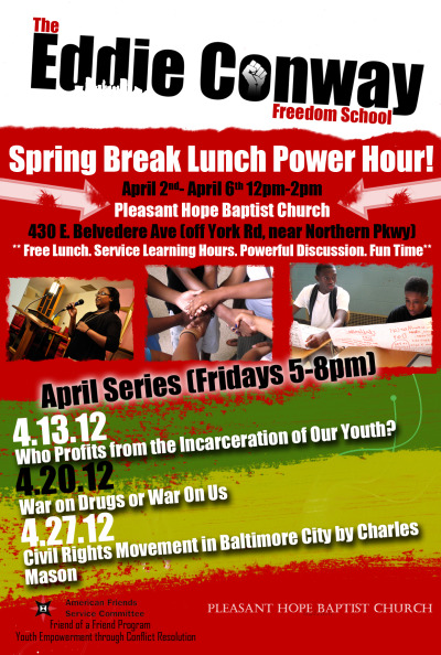 The #EddieConwayFreedomSchool Spring Series #Baltimore #Youth #Community #CheckItOut