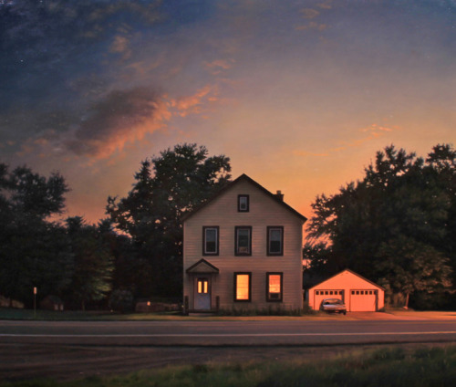 "Matthew Cornell, ""Dusk,"" Oil on Panel, 21.5"" x 25.5"""