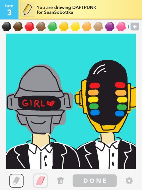 stephanetv:  got a little too excited on Draw Something.