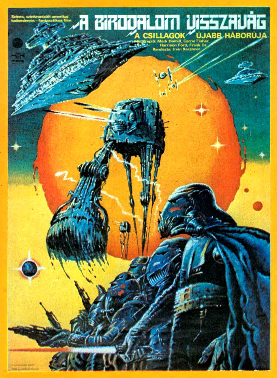 Check out this AMAZING Hungarian poster for THE EMPIRE STRIKES BACK. I can't find the artist who did this, just that it's Hungarian and fucking great.