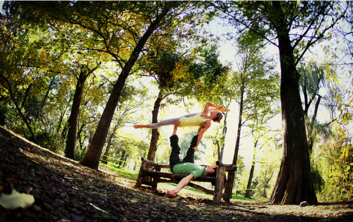 AcroYoga in New York City.  Photo courtesy: Wari Om and Yoga Journal Conferences.