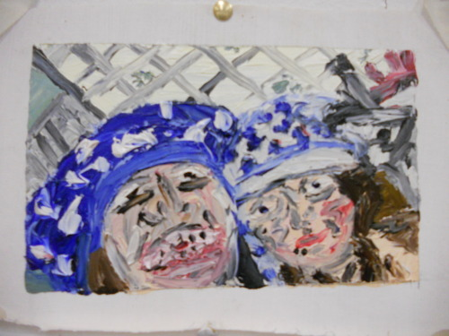 Pants on our Head Oil Finger Painting 2012