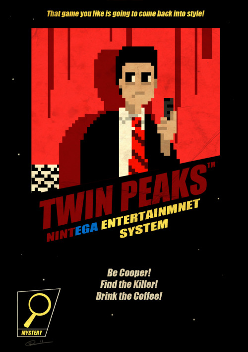 That game you like is going to come back into style!I LOVED Twin Peaks.I LOVED the NES.I think that explains this picture in it's entirety…
