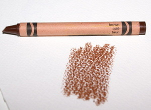 This used crayon is brown.
