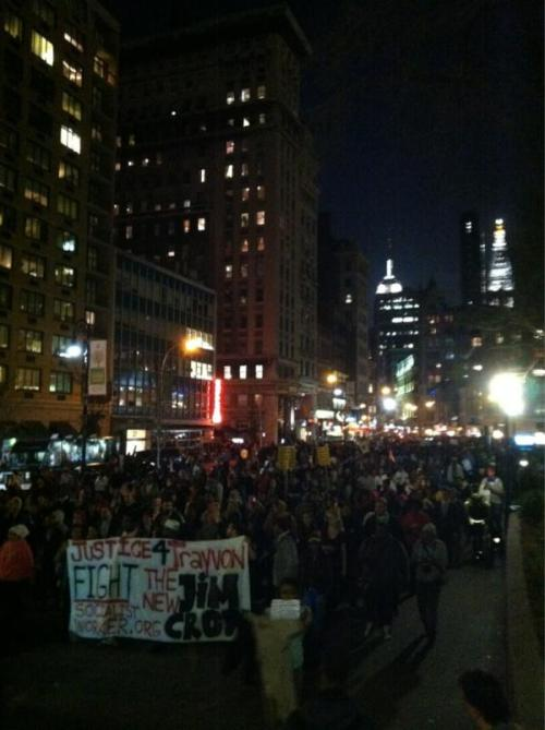 thepeoplesrecord:  Thousands at the Million Hoodie March for Trayvon Martin right now via Sign the petition created by Trayvon's parents to prosecute George Zimmerman. Reblog & spread.   please, thank you