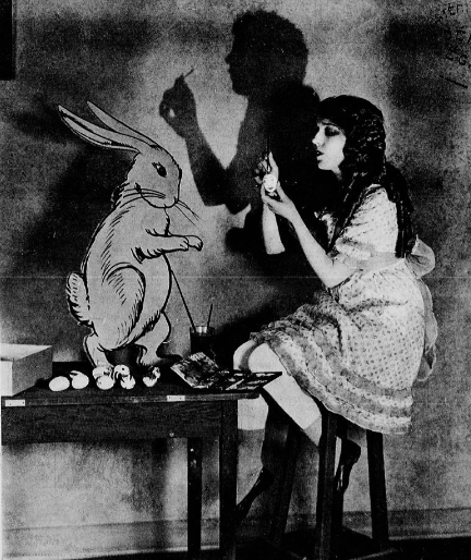 calivintage:  mary pickford and the easter bunny, 1923.