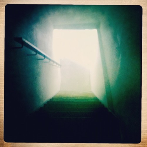 #stairs #tunnel #exit #downstairs #light #lower #level  (Taken with instagram)