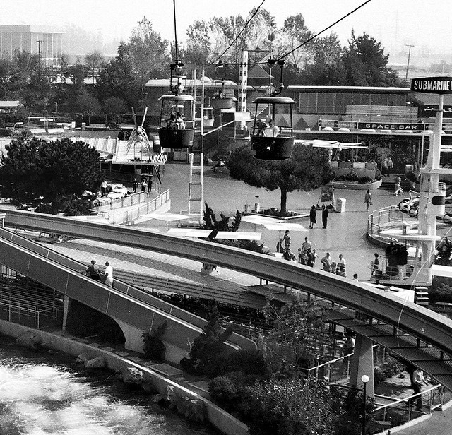 Tomorrowland and Tram — 1963 by arbyreed on Flickr.