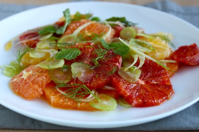 citrus, fennel, and mint salad