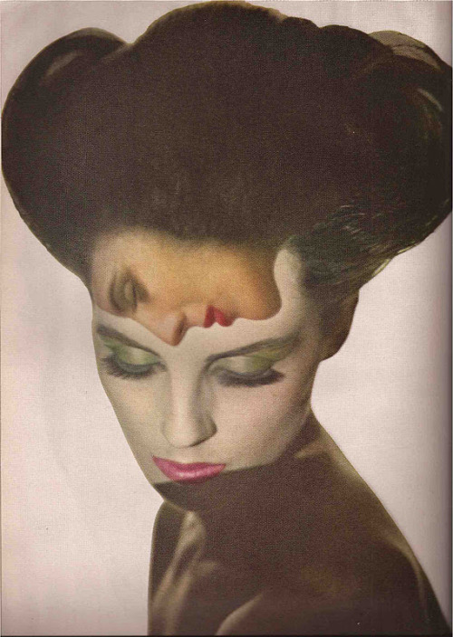 """Lovers""      "" Melvin Sokolsky (Photographer) for Harper's Bazaar (1964) ""    Thanks to cosmicfrothandbubbles for posting this great stylized image."