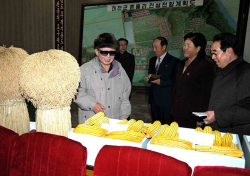 kimjongillookingatthings:  looking at corn