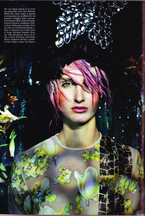 Vogue Italia, Marzo 2012 Printed tulle dress Flaminia Saccucci