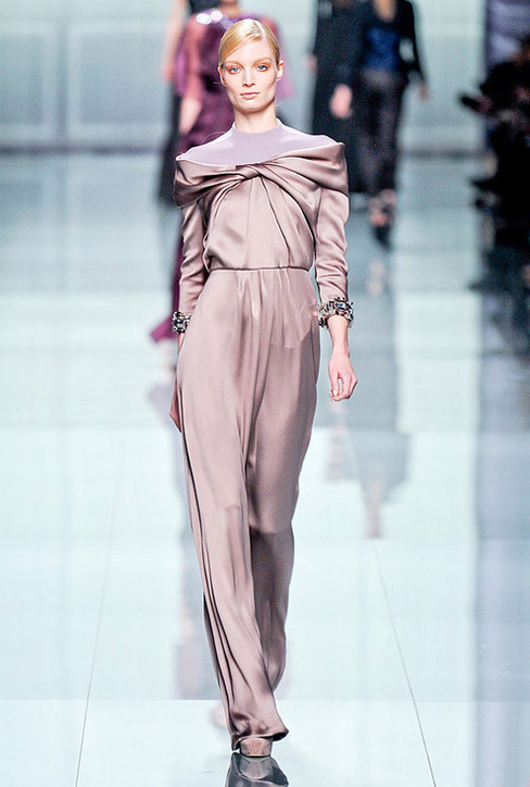 Chic Pastel Satin Gown. Christian Dior Fall-Winter 2012