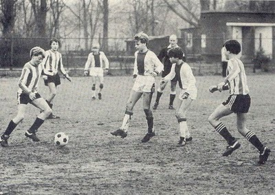 yourweeklyfootballhistorylesson:  Dennis Bergkamp in action for the Ajax youth team