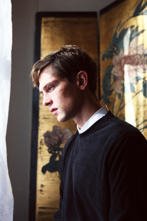 lylaandblu:  Mathias at the window (in colour!) by Ethan James Green