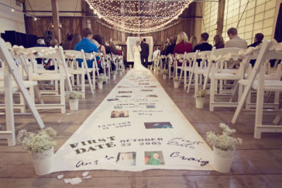 loveforweddings:  An aisle runner of memories.