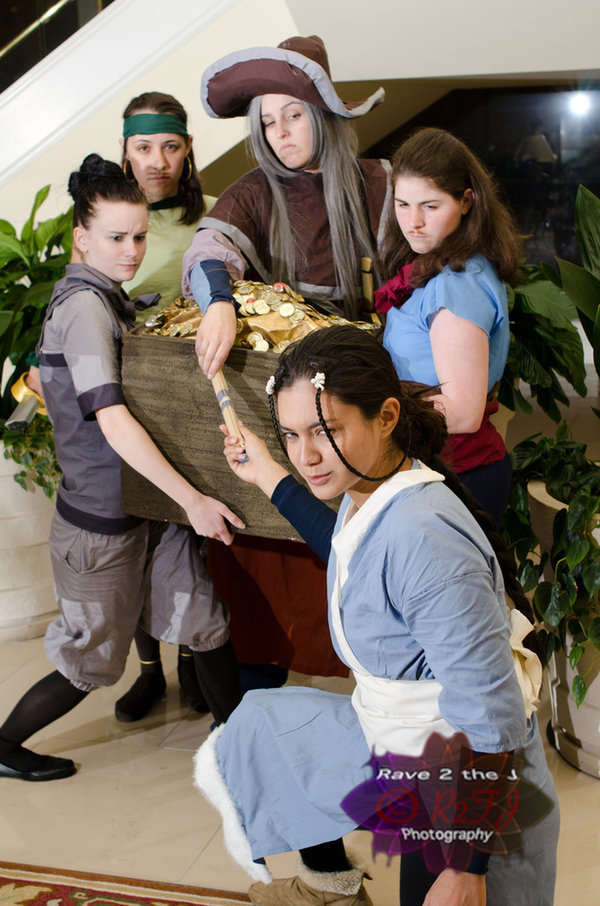 Katara and The Pirates, from Avatar: The Last Airbender People at the Avatar gathering we went to didn't even recognize us. Sad Day. Submitted by rapunzelcomplex