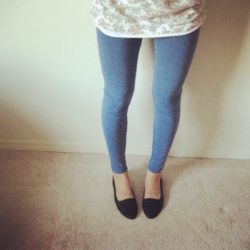 Today's leggings from Joe Fresh. Today's shoes from American Apparel.